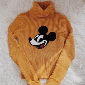 F21 Mickey True Original Turtleneck Sweater